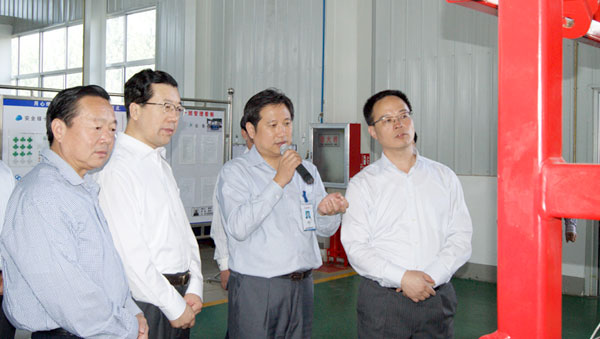 Mr. Sun Wei, Vice Governor of Shandong Province visited Jereh in September 2011.