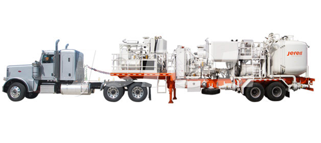 Trailer Mounted  Single Pump Cementing Unit