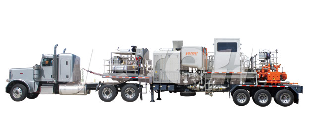 Trailer Mounted Twin Pump Cementing Unit