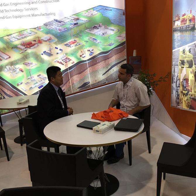 Mr.Vova Du discussing the clients