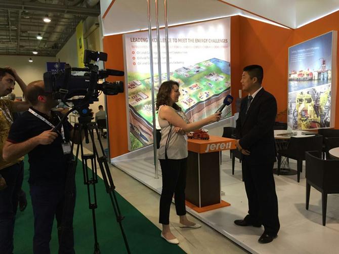 Mr. Vova Being Interviewed onsite